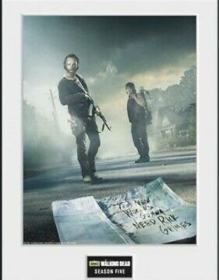 The Walking Dead - Andrew Lincoln Framed Collector Poster (16x12in) #100333 #fashion #home #garden #homedcor #postersprints (ebay link)