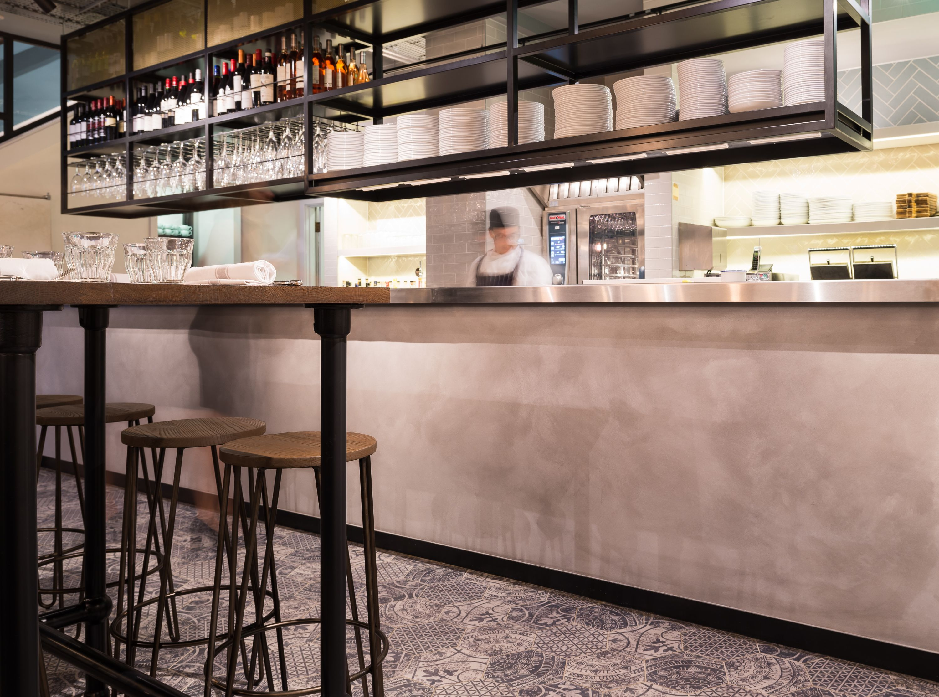 Clay Plasters Are A More Versatile Way Of Creating The Polished Concrete Effect Www Clay Works Com Restaurant Interior Design Polished Concrete Wall Finishes