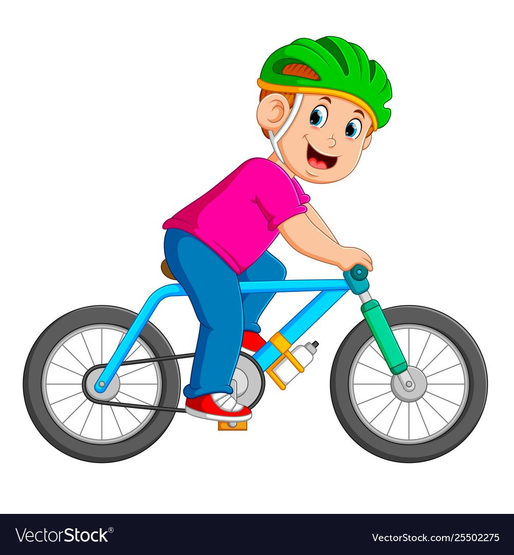 Professional Cyclist Is Riding On Bicycle Vector Image Bicycle Illustration Art Drawings For Kids Children S Book Characters