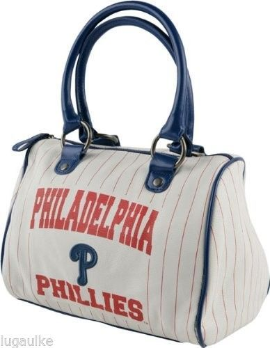 SALE !! NEW MLB Baseballl Team Philadelphia Phillies Purse Handbag Hobo Bowler Style Bag #PhiladelphiaPhillies