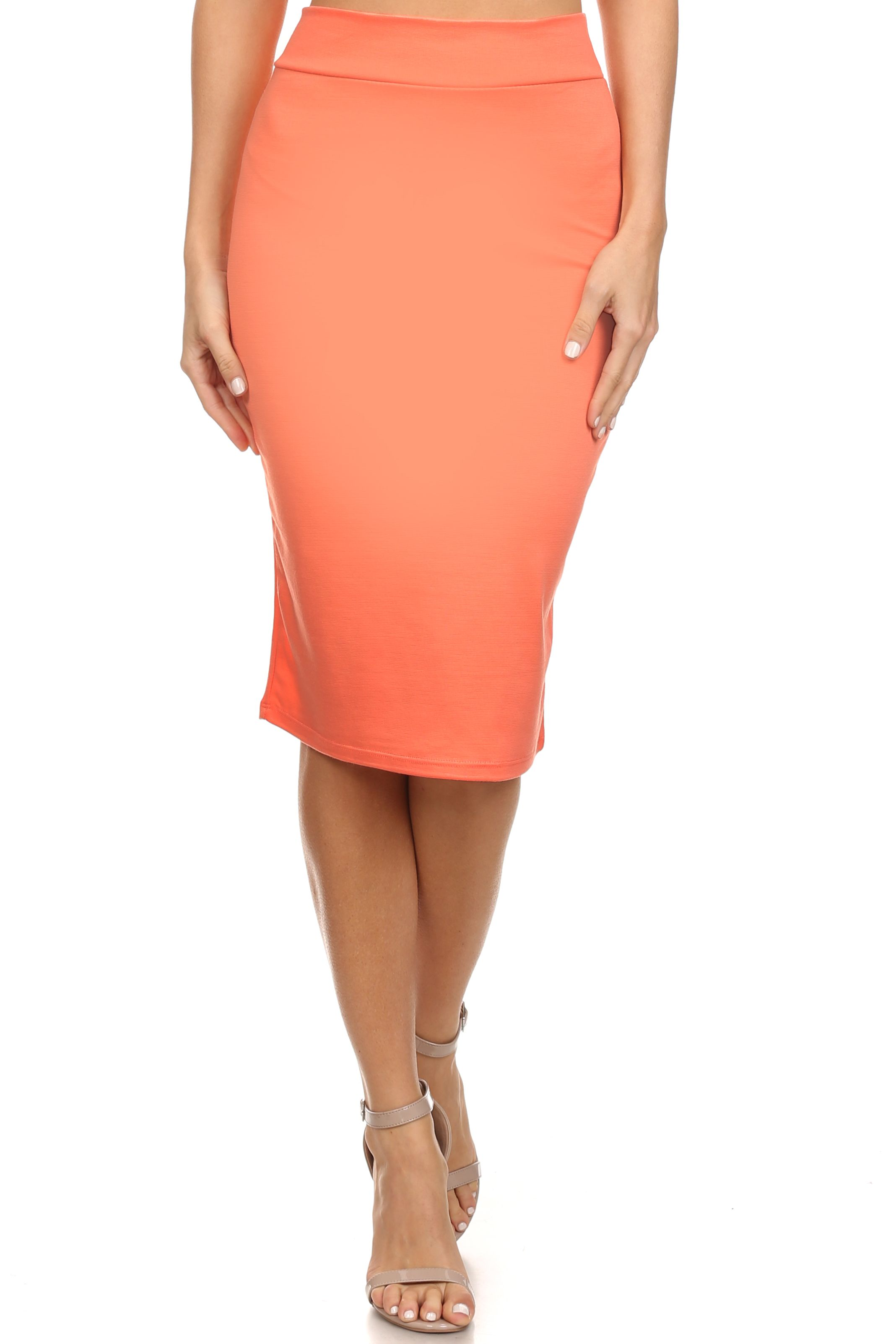5f66749da4 Cream Below The Knee Pencil Skirt - Data Dynamic AG