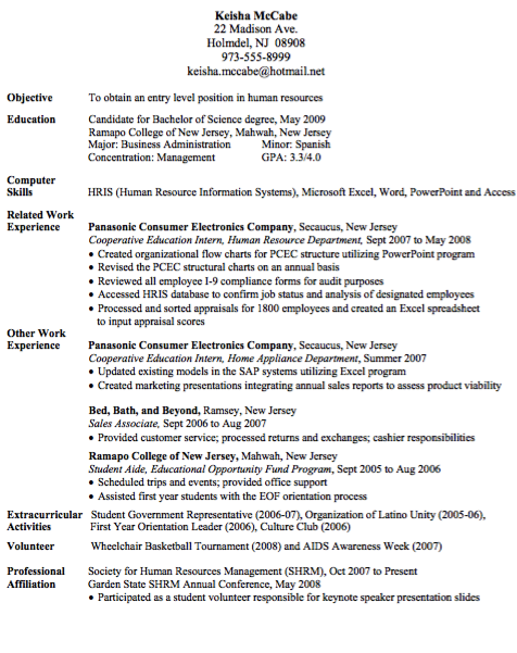 entry level human resource assistant resume http resumesdesign