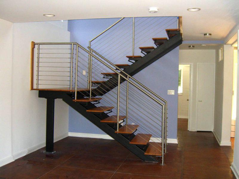 Best Metal Floating Stairs Straight Stair Photo Gallery 400 x 300