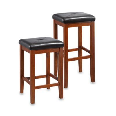 Crosley Upholstered Square Seat Bar Stools 2 Piece Sets