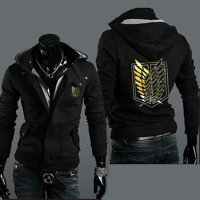 Anime Attack on Titan Korean Sweatshirt Coat Men/'s Fit Hoodie Male Top Jacket