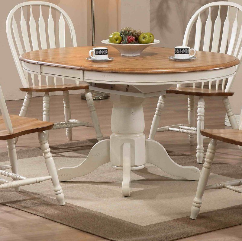 Florentia Extendable Dining Table Pedestal Dining Table Round Kitchen Table White Round Kitchen Table