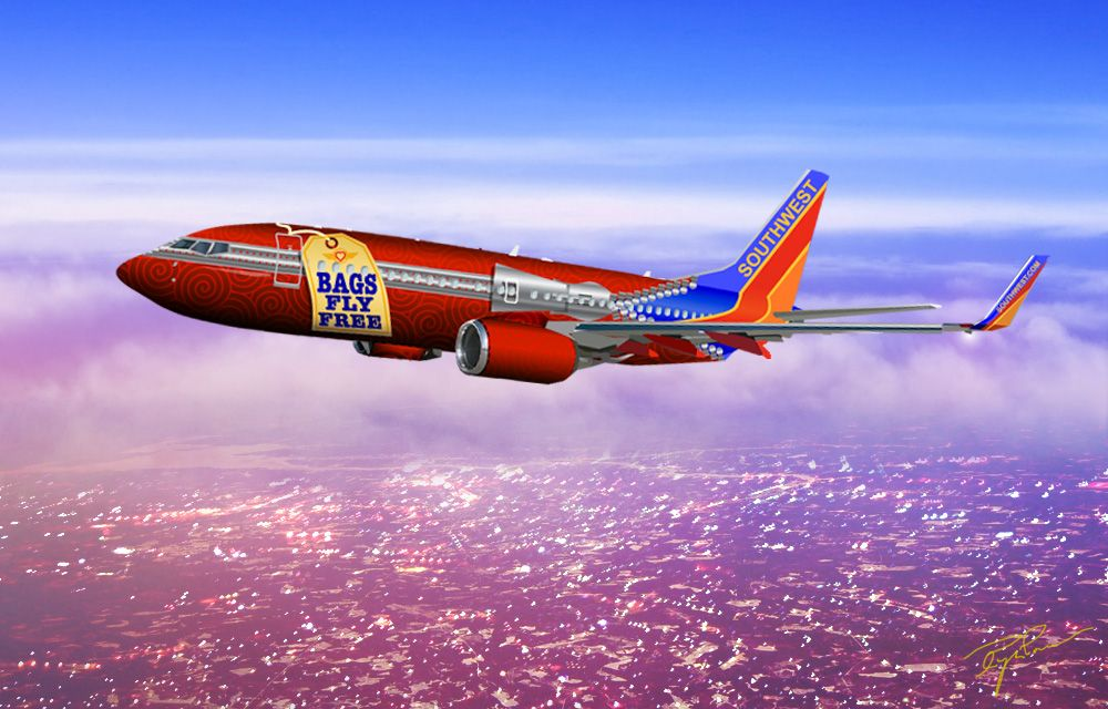 Aircraft Promotion Livery Southwest Airlines Boeing 737 700 Livery Aviation Design Modified Aircraft Southwest Airlines Aircraft Design