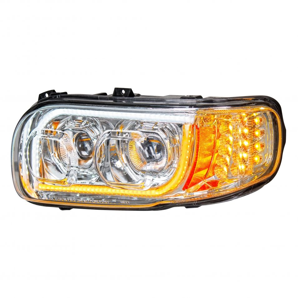 High Power Led Chrome Headlight W Led Position Light Led Turn