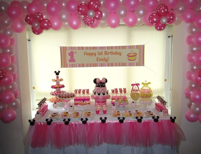 Minnie Mouse Birthday Party Ideas Photo 1 Of 15 Minnie Mouse 1st Birthday Minnie Mouse Birthday Party Minnie Birthday Party