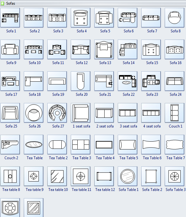 Sofa Symbols For Floor Plan | Floor Plan Symbols, Bedroom Design Diy, How To Plan