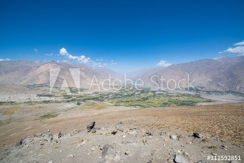 View to Ishkashim city from mountain in Afghanistan , #Aff, #Ishkashim, #View, #city, #Afghanistan, #mountain #Ad