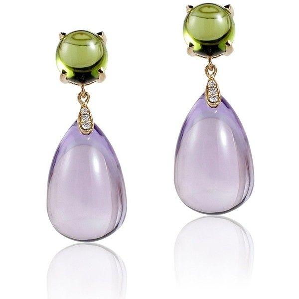 Goshwara Naughty Citrine Drop & Garnet Cabochon Earrings KVFD1mprWo