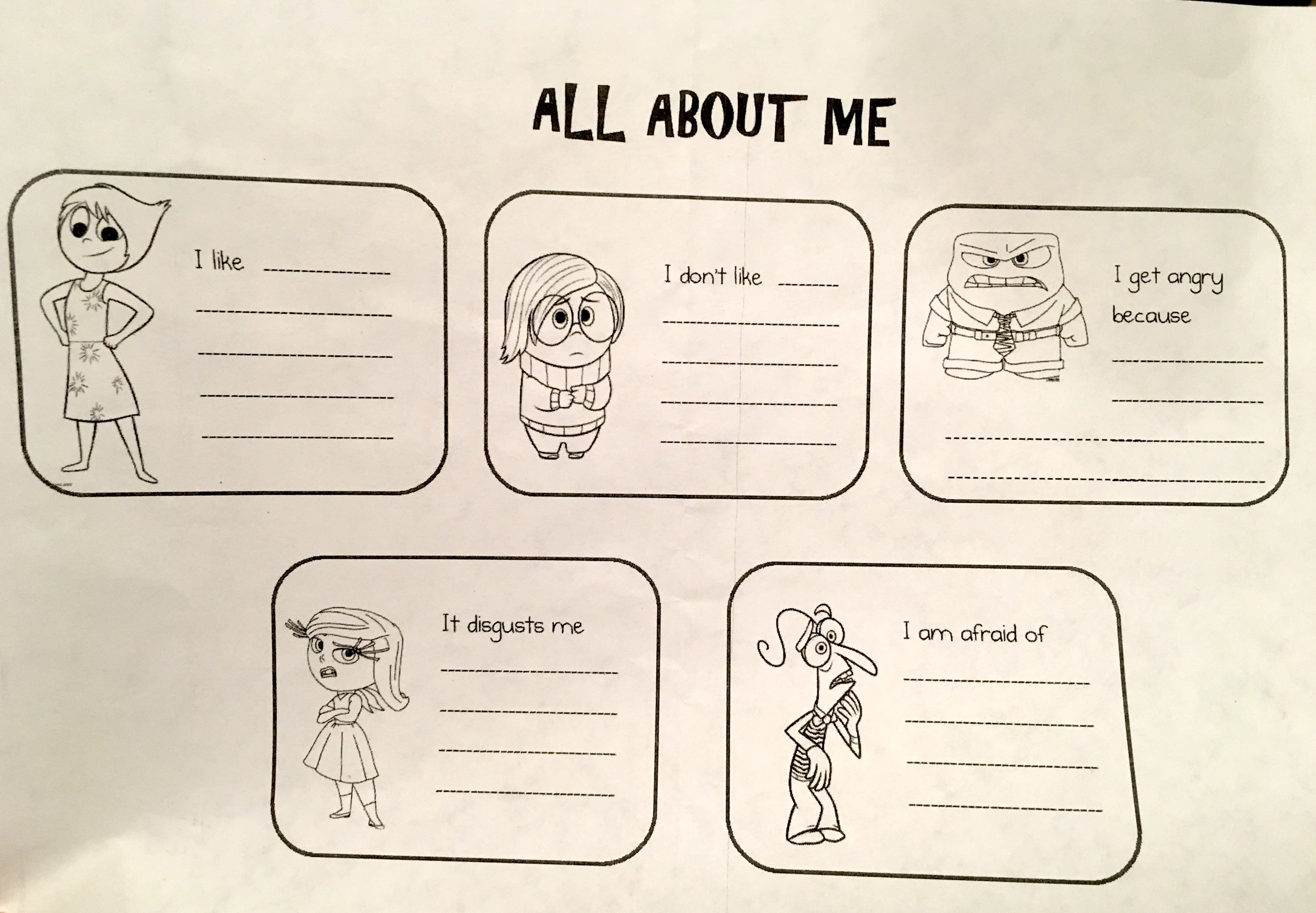 All About Me Worksheet Image By Nalinikids On Relevant
