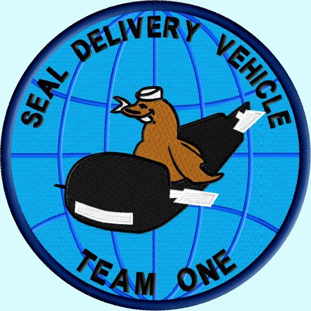 SEAL Delivery Vehicle Team One   US NAVY SEAL COMMANDO PATCH