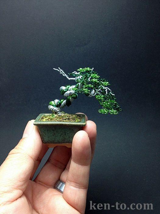 Green deadwood wire bonsai tree by Ken To by KenToArt.deviantart.com on @deviantART