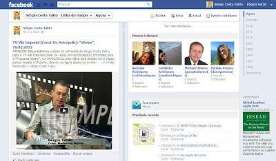 """TVI - TV Vila Imperial, Canal 19 (Local, Petrópolis/RJ): 29.02.2012: Entrevista sobre o tema: """"A Economia da Atenção: Timeless x Relevância"""""""