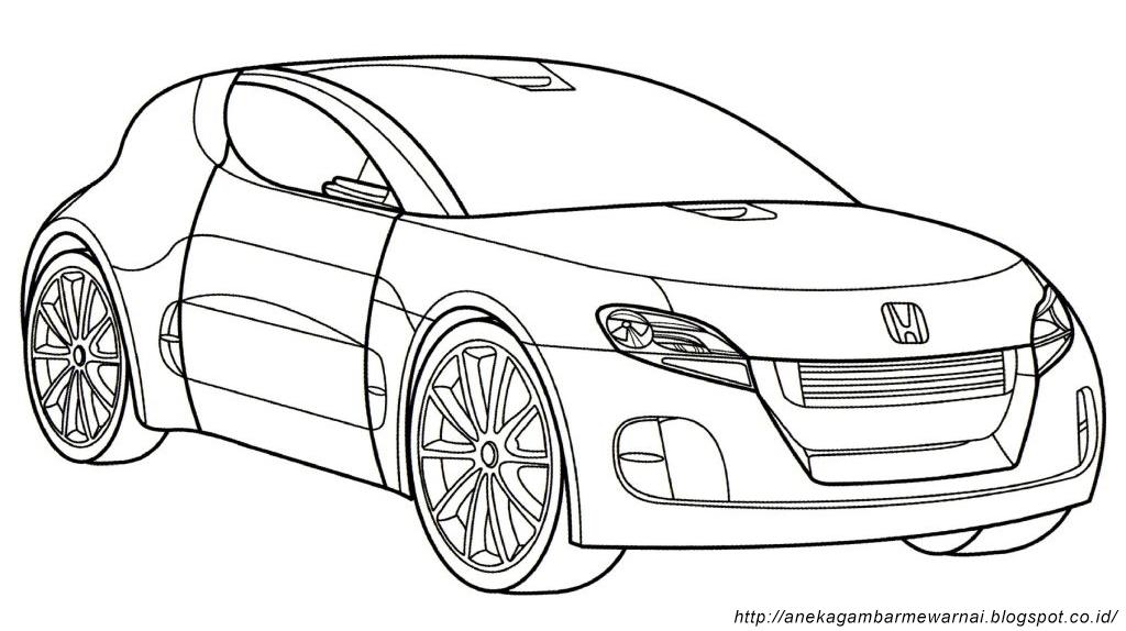 Gambar Mewarnai Mobil Untuk Anak PAUD dan TK Aneka