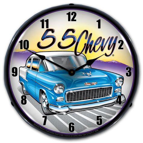 Chevy Vintage 1955 Bel Air Wall Clock Chevy Mall Chevy Trucks Classic Trucks 1955 Chevy
