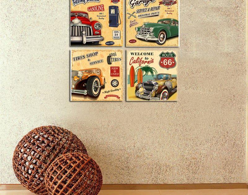 Paling Keren 16 Lukisan Gambar Bus Keren 4 Pcs Klasik Keren Mobil Cuadros Dinding Stiker Modern From Id Aliexpress Com Wall Lukisan Gambar Gambar Lukisan