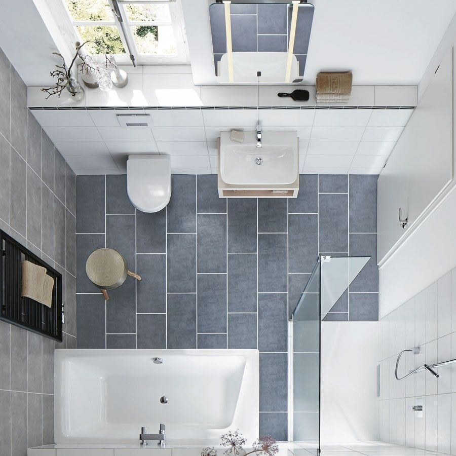Drei Stile Platz Fur Badespass Auf Kleinstem Raum Wohnidee Kleines Bad Gestalten Badezimmer Planen Bad Einrichten