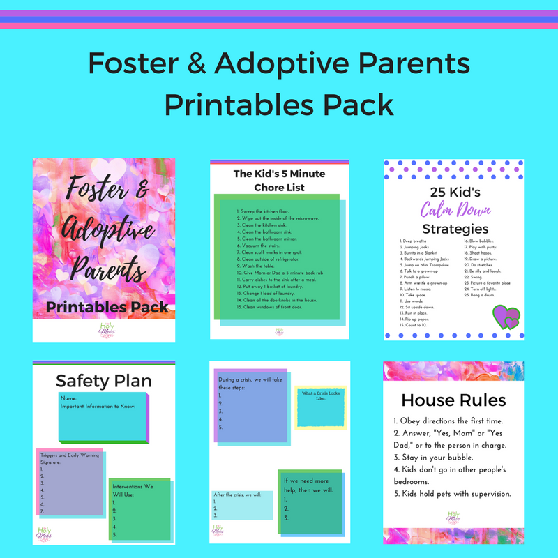 Foster And Adoptive Parents Printables Pack