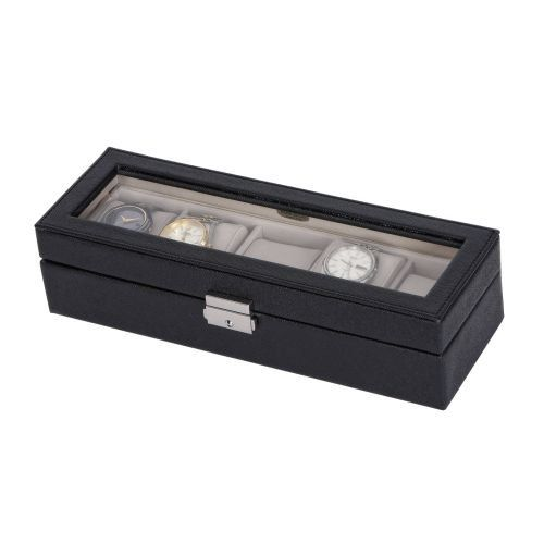 Mele and Co Lewis Mens Watch Box in Black by Mele Jewelry Click