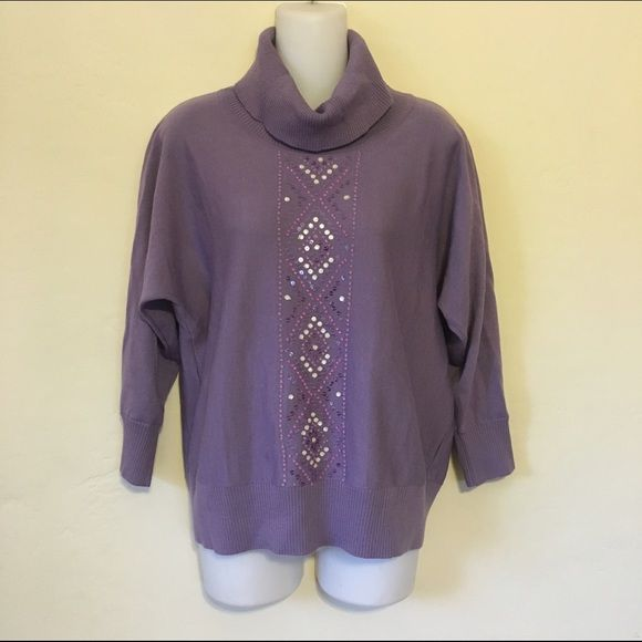 Purple Aztec sweater
