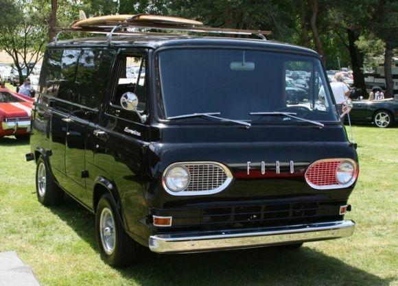 Bat Exclusive Amazing 1963 Ford Econoline Van Vintage Vans