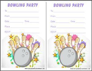 Printable Bowling Invites  Free Invitation Cards  ReginaS Party
