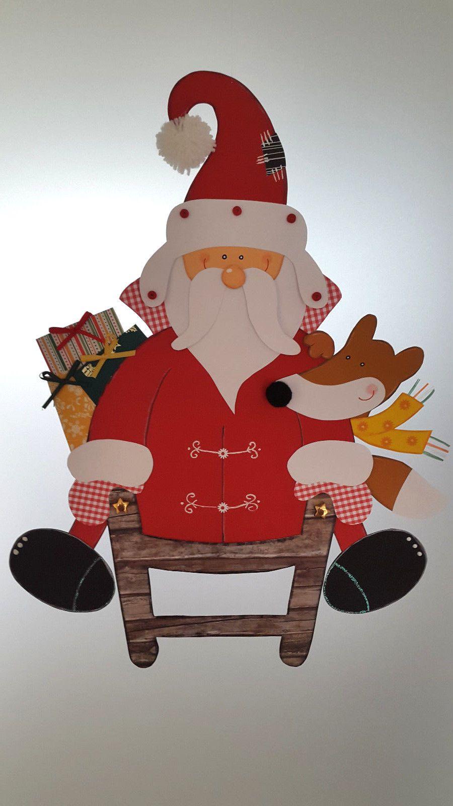 fensterbild weihnachtsmann mit schlitten weihnachten. Black Bedroom Furniture Sets. Home Design Ideas