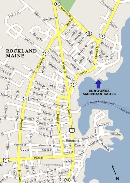 Schooner American Eagle Location Rockland Maine Trip Rockland