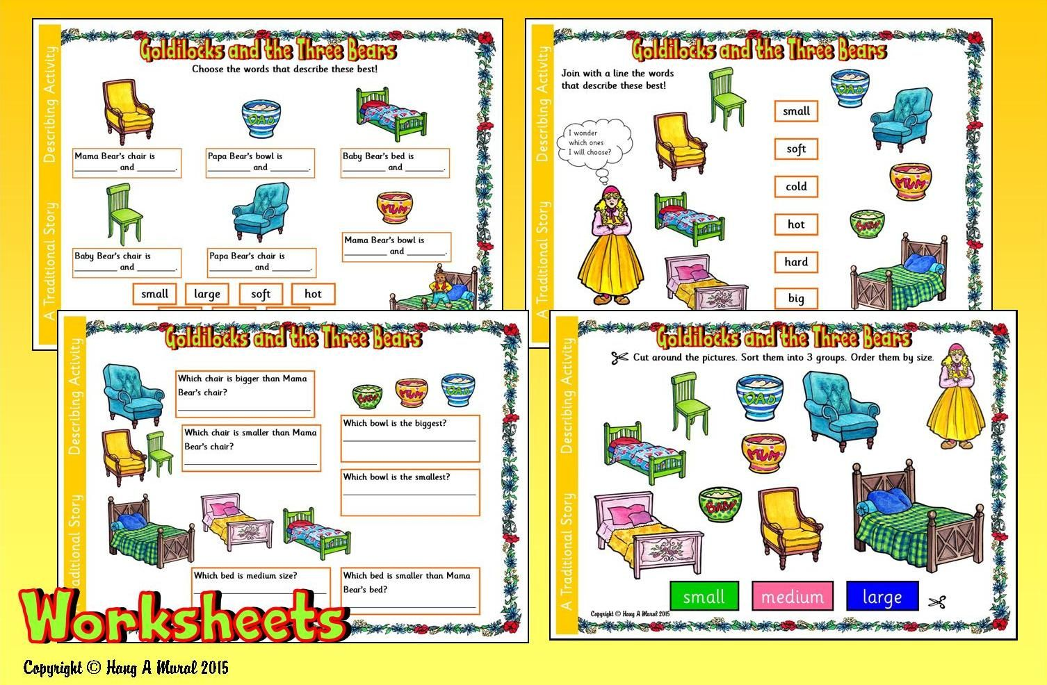 Goldilocks Amp The Three Bears Worksheets Free Download At