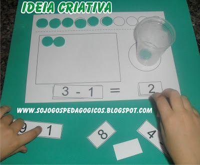 Jogo Pedagogico Subtracao Jogos Pedagogicos Jogos Matematicos