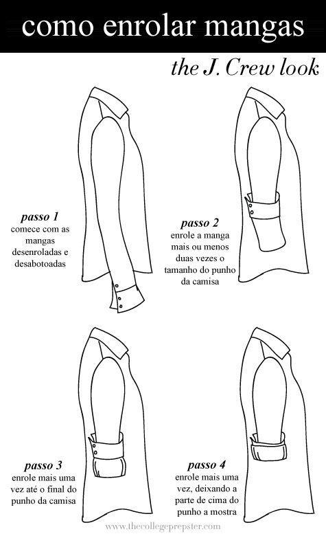 6886d77dad Como dobrar as mangas de uma camisa social - Minhas Dicas.