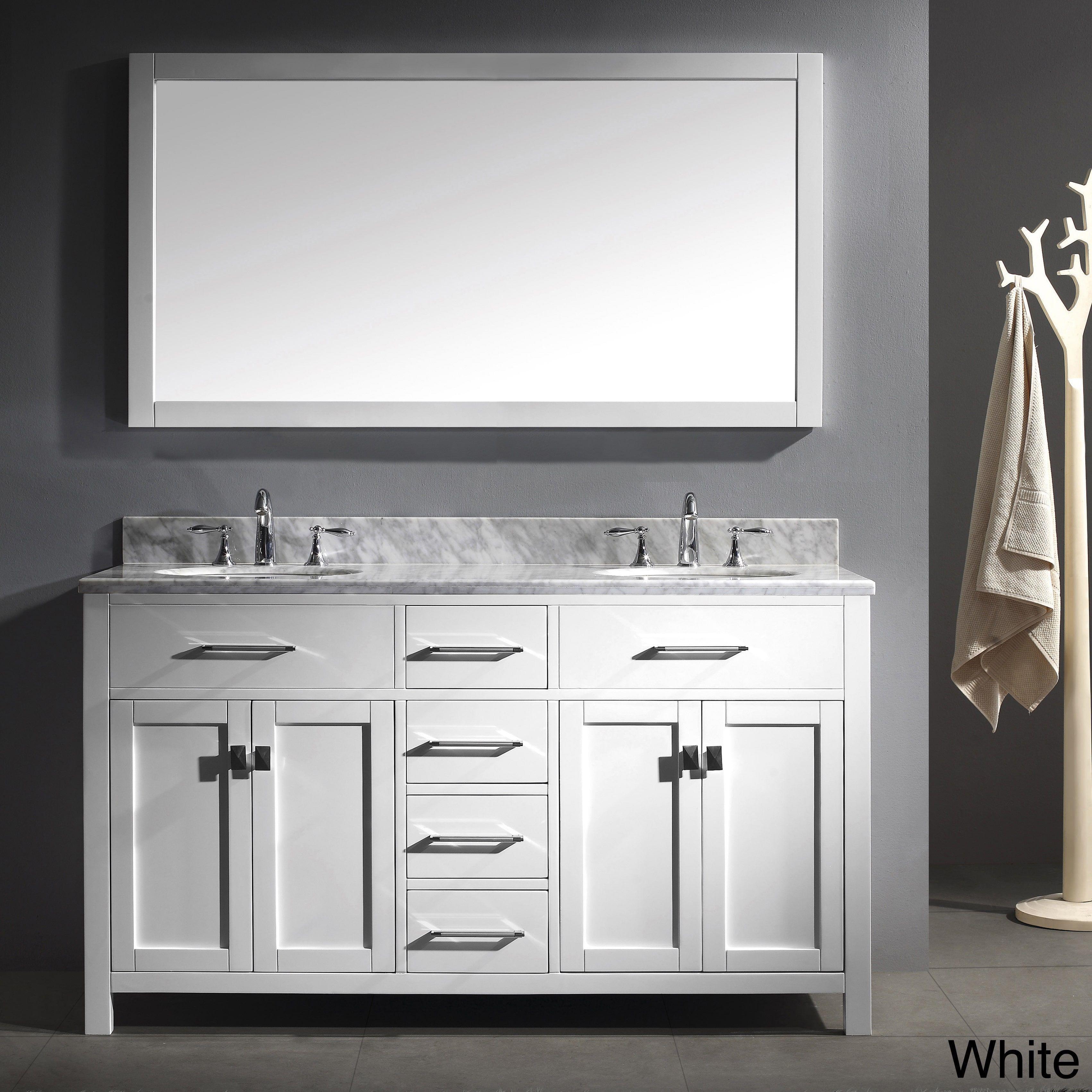 Digital Art Gallery Virtu USA Caroline inch Double Sink Bathroom Vanity and Mirror Set