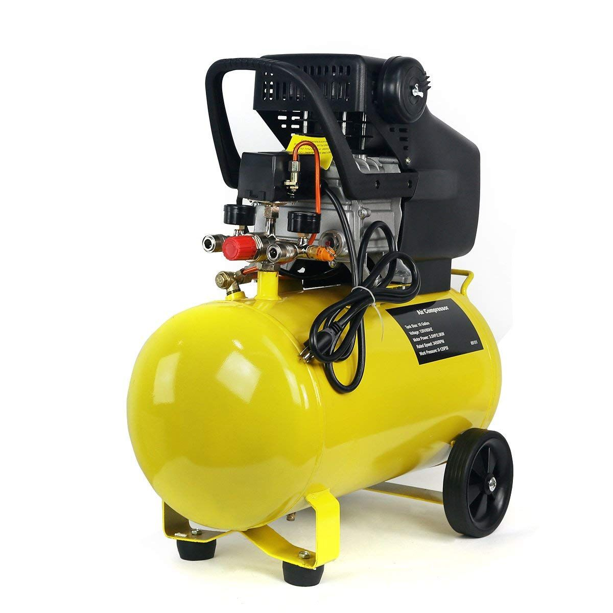 3 5hp 10 Gallon Pneumatic Portable Air Compressor With Tank Air Compressor Portable Air Compressor Compressor