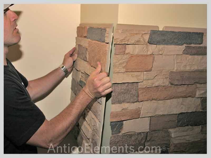 Faux Stone Wall Panels Easier Then Drywall Mdb Bathroom Ideas Pinterest Faux Stone Wall