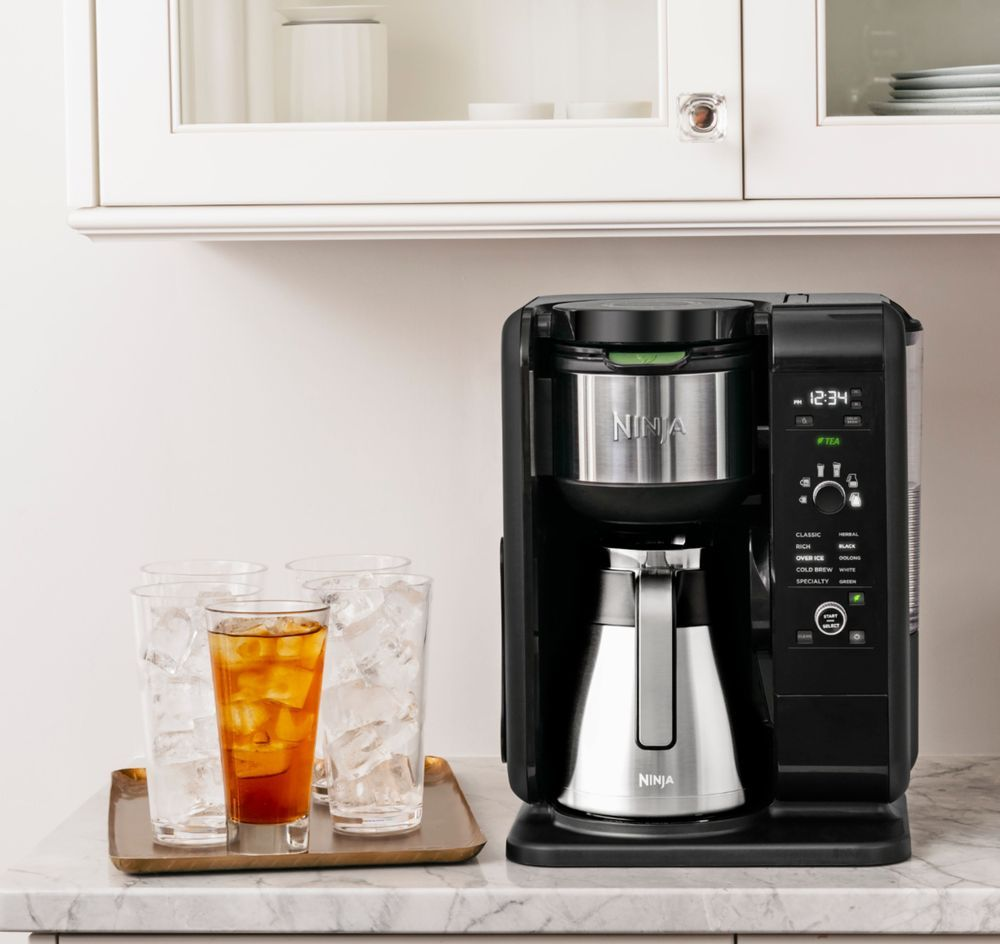 Ninja Hot Cold 10 Cup Coffee Maker Black Stainless Steel Cp307 Best Buy Coffee Maker Ninja Coffee Maker Cold Brew