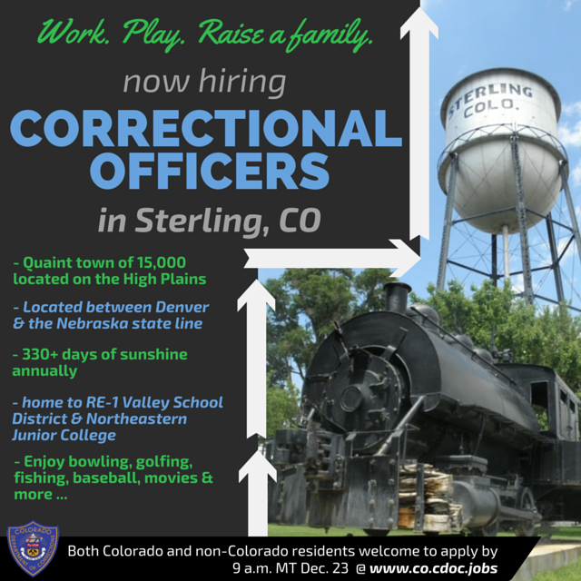 Career Alert The Clock Is Ticking We Re Accepting Applications For Correctional Officer Through 9 A Tuition Reimbursement College Junior Correctional Officer