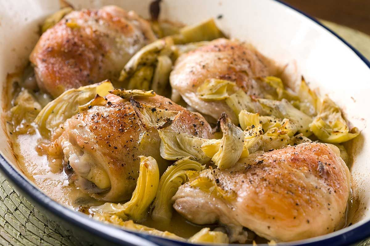 Baked chicken with artichokes chix flicks pinterest baked food baked chicken with artichokes forumfinder Image collections