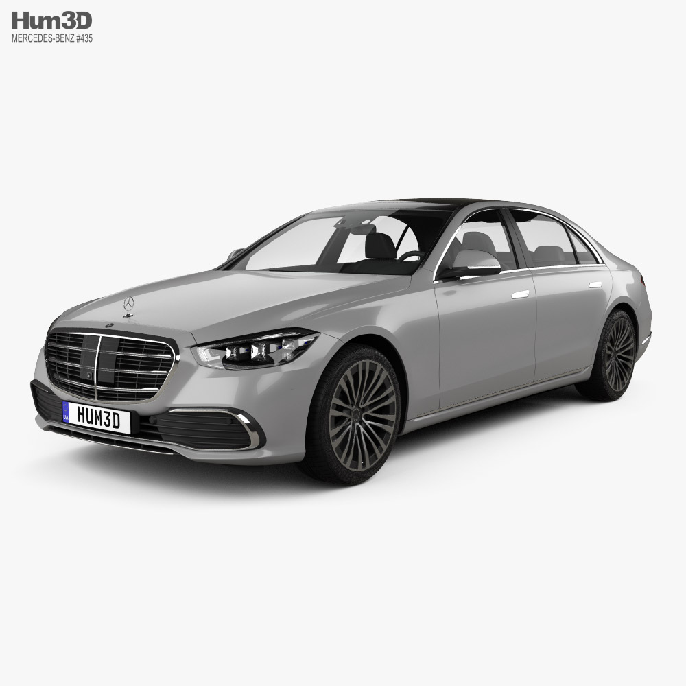 3d Model Of Mercedes Benz S Class V223 Lwb 2021 Benz S Benz S Class Mercedes Benz