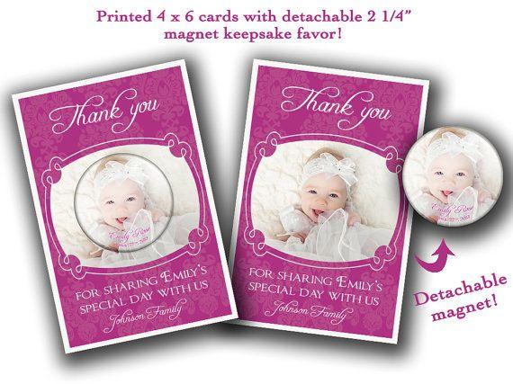 Custom Favor With Thank You Card Baptism Favor Christening Favor