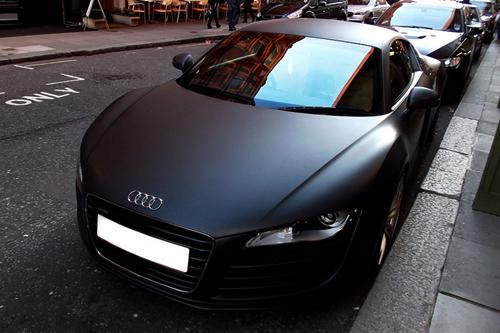 Flat/matte black Audi