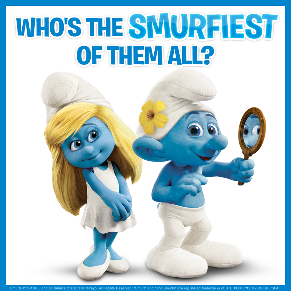 smurfette amp vanity who do you think is more pretty the