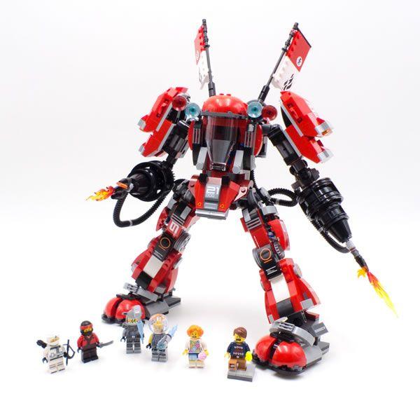 vite test the lego ninjago movie 70615 fire mech en avant pour une srie - Ninjago Rouge