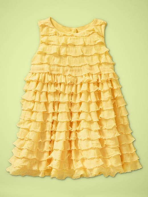 20e1a6b32e48 Baby Gap NWT Villa Centinale Yellow Ruffled Party Dress 12 18 Months ...