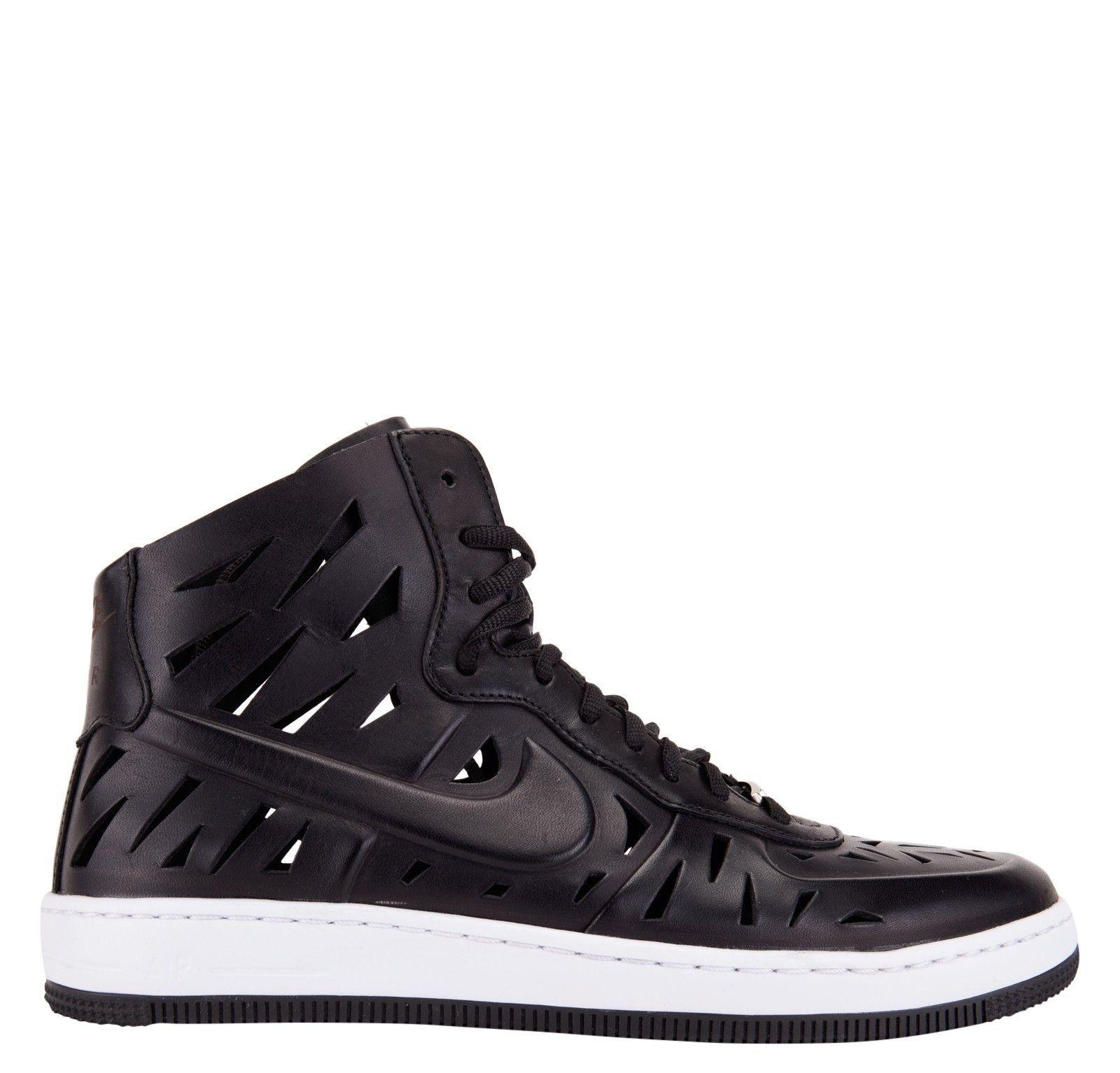 Nike Womens Air Force 1 Ultra Force Mid Joli Black White Step ur
