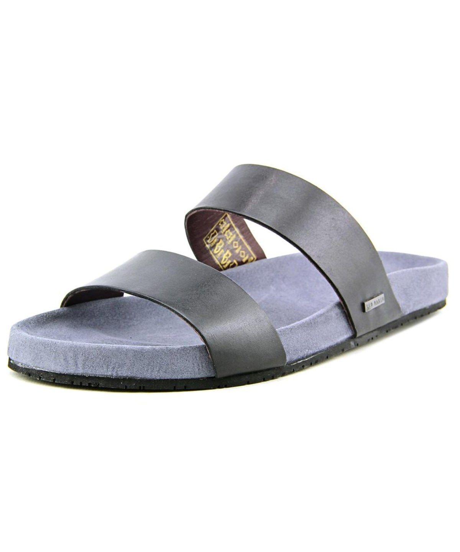 d51780587c744 TED BAKER TED BAKER MAGNUSS OPEN TOE LEATHER SLIDES SANDAL .  tedbaker   shoes  sandals