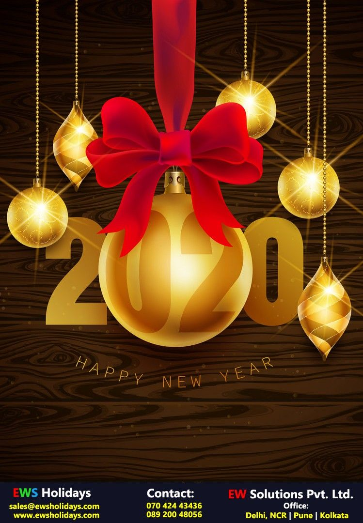 Happy New Year 2020 In 2020 India Holidays Holiday Packaging Hotel Packages