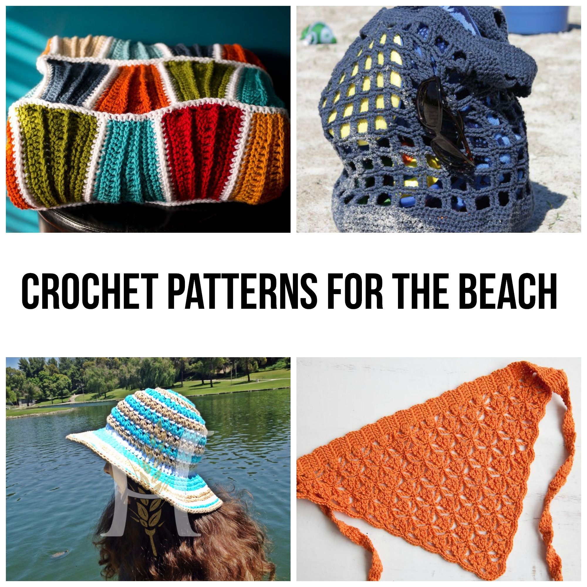 Yarn and sand don't seem like a good match at first, but if you use the right kind of yarn (washable!) then your favorite crochet stitches will fit right in. Hit the beach in style with these sun- and sand-friendly crochet patterns.